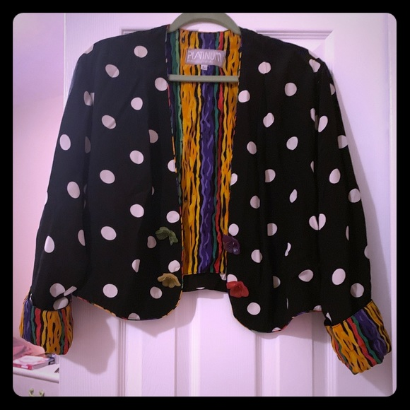 Vintage Jackets & Blazers - Vintage Jacket with fun patterns and buttons